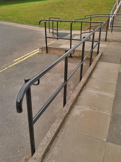 Metal hand rails domestic commercial welding